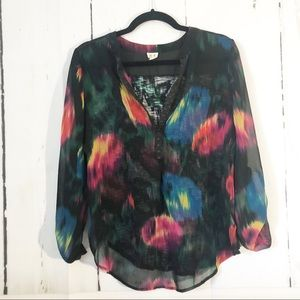 Anthropologie Tops - Anthropologie • Tiny Watercolor Tulipano Blouse